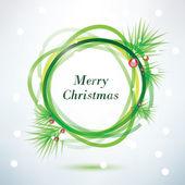 Christmass background, vector frame — Vector de stock