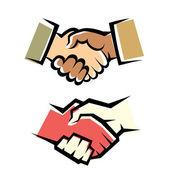 Handshake vector symbol set — Stock Vector