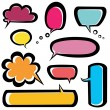 Speech bubbles icons set — Stock Vector