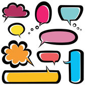 Speech bubbles icons set — Stockvector