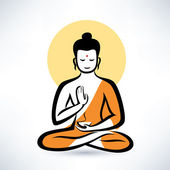 Buddha vector symbol — Stock Vector