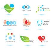 Medicine emblems collection — Stock Vector