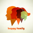 Happy family illustration — Imagen vectorial