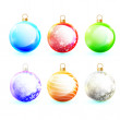 Set of christmas ball — Stock Vector