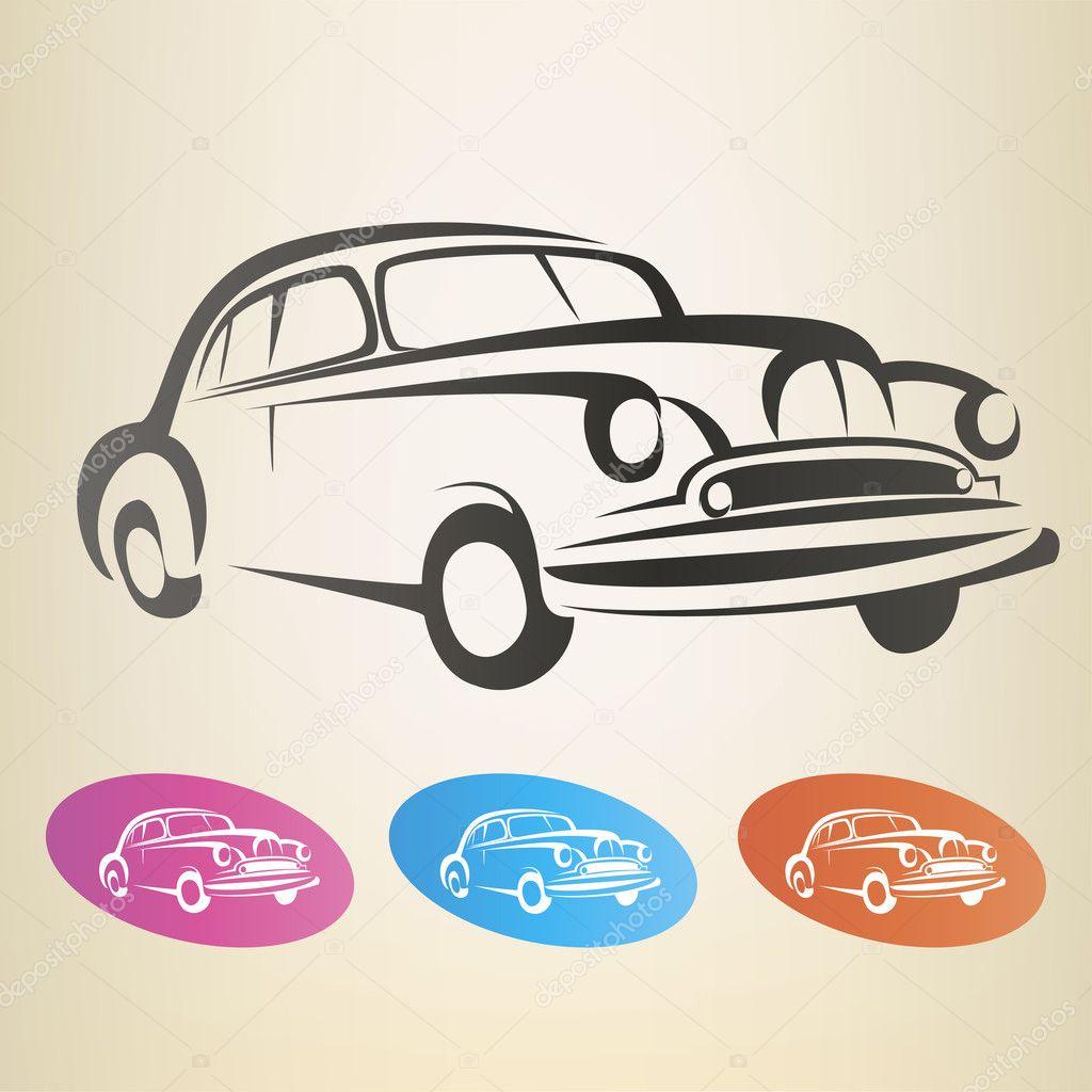 Значка для ретро автомобили 4