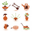 Garden tools icons set — ストックベクタ #48038537