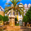church square tranquil scenery in the old town of marbella — Stock Photo