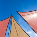 Triangle Sun Shades — Stock Photo #12384802