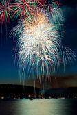 Cascading Fireworks — Stock Photo