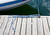 Knots in a Boat Rope — Stock Photo