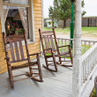 Front Porch Rocking Chairs - Stock Photo