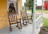 Front Porch Rocking Chairs — Stock Photo