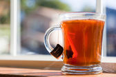 Cup of pu erh tea — Stock Photo