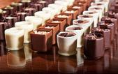 Rows of Chocolates — Stock Photo