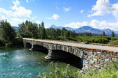 Stone Bridge Over Green River — Stock Photo