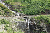 Waterfall Under Road — Stock Photo