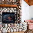 Living Room Fireplace — Stock Photo #22296895