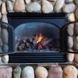 Fireplace Close-Up - Stock Photo