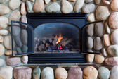Fireplace Close-Up — Stock Photo