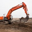 Track-hoe Machine - Stock Photo