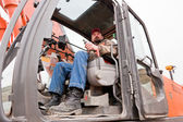 Heavy Machine Operator — Stock Photo