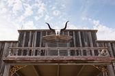 Boğa boynuzları batı bina — Stok fotoğraf