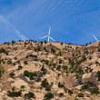 Steep Hillside With Windmills — Stock Photo