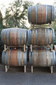 Stacked Wine Barrels — Stock Photo