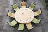 Table Set for Nine — Stock Photo