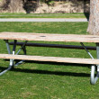 Picnic Bench in Park — Stock Photo
