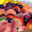 Boxed Mixed Fruit — Stock Photo