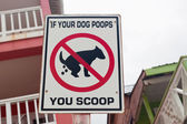 Dog Poop Sign — Stock Photo