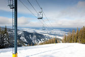 Skilift op berg — Stockfoto