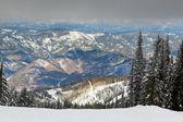 Sunshine on Snowy Mountains — Stock Photo