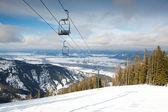 Ski Lift Landscape — Stockfoto