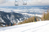 Chair Lift Overlooking Valley — Photo