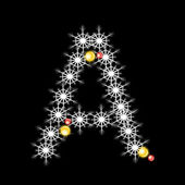 Wektor streszczenie star znaków alfabetu, eps 10. — Wektor stockowy