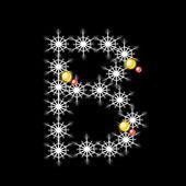 Vector of Abstract star B alphabet character, EPS 10. — Stockvektor