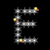 Vector of Abstract star E alphabet character, EPS 10. — Stock Vector