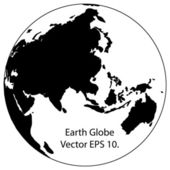 Globe Vector Line Illustrator, EPS 10. — Vector de stock