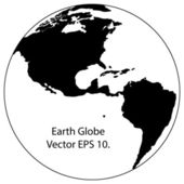 Illustrateur de globe vecteur ligne, eps 10. — Vecteur