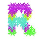 Wektor znaków alfabetu streszczenie gwiazda r, eps 10. — Wektor stockowy
