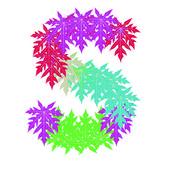 Vektor abstraktní hvě abeceda charakteru, eps 10. — Stock vektor