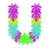 Wektor znaków alfabetu streszczenie gwiazda u, eps 10. — Wektor stockowy