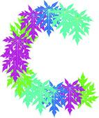 Vektor abstraktní hvězda c abeceda charakteru, eps 10. — Stock vektor