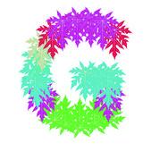 Vektor av abstrakt stjärna g alfabetet karaktär, eps-10. — Stockvektor