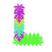 向量的抽象星级 l 字母字符,eps 10. — 图库矢量图片