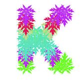 Wektor znaków alfabetu streszczenie gwiazda k, eps 10. — Wektor stockowy