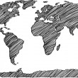 Dotted World Map Globe Made of Star Shapes. Vector EPS 10. — 图库矢量图片