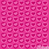 Love Heart Background for Valentine' Day Vector Illustration, EPS 10. — Stock Vector